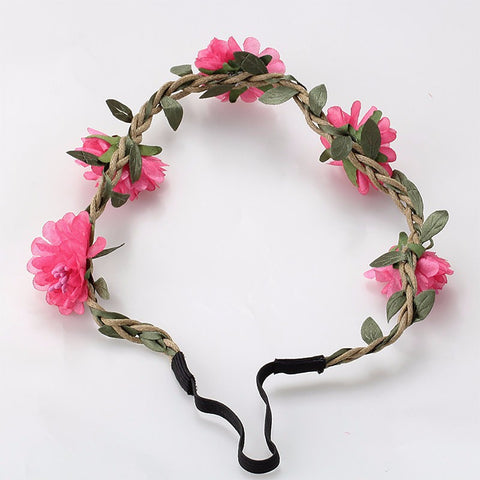 Bohemia Flowers Headband (Dark Pink) | meemu.com | Kids fashion, accessories