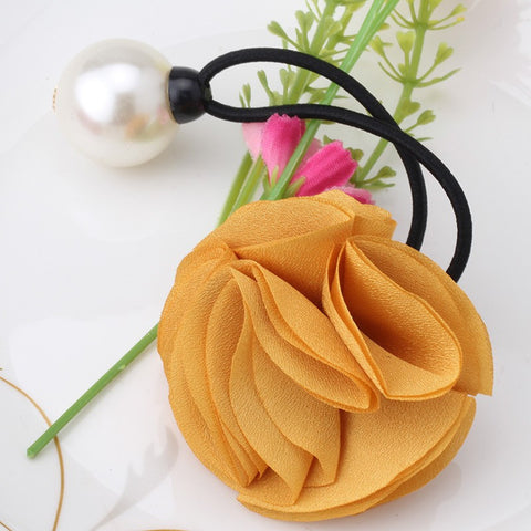 Chiffon Flower Girls Hair band (Ginger) | meemu.com | Kids fashion, accessories