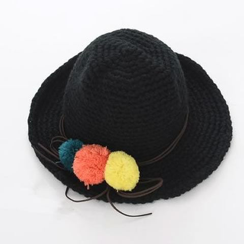 Winter Cute Black Hat | meemu.com | Kids fashion, accessories