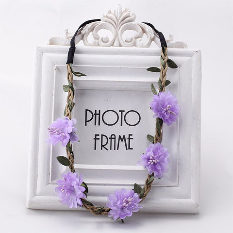 Bohemia Flowers Headband (Lavender) | meemu.com | Kids fashion, accessories