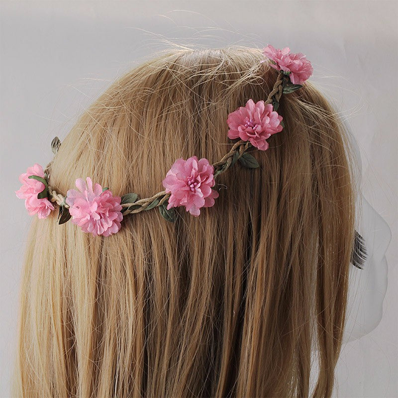Bohemia Flowers Headband (Pink) | meemu.com | Kids fashion, accessories