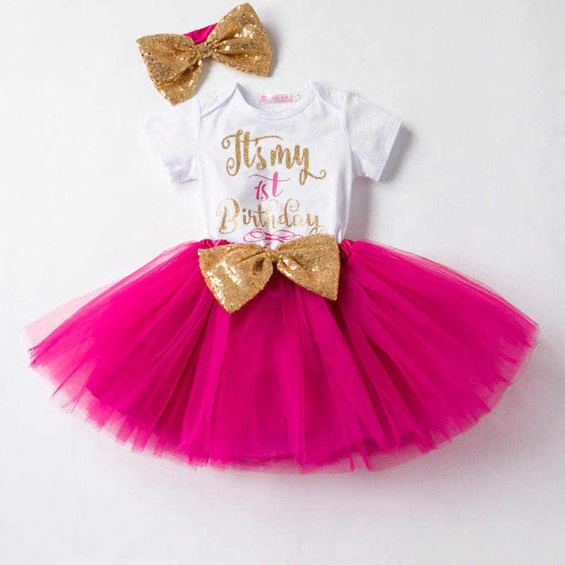 My First Bday Dress Pink (with headband, stockings) | meemu.com | Kids fashion, accessories