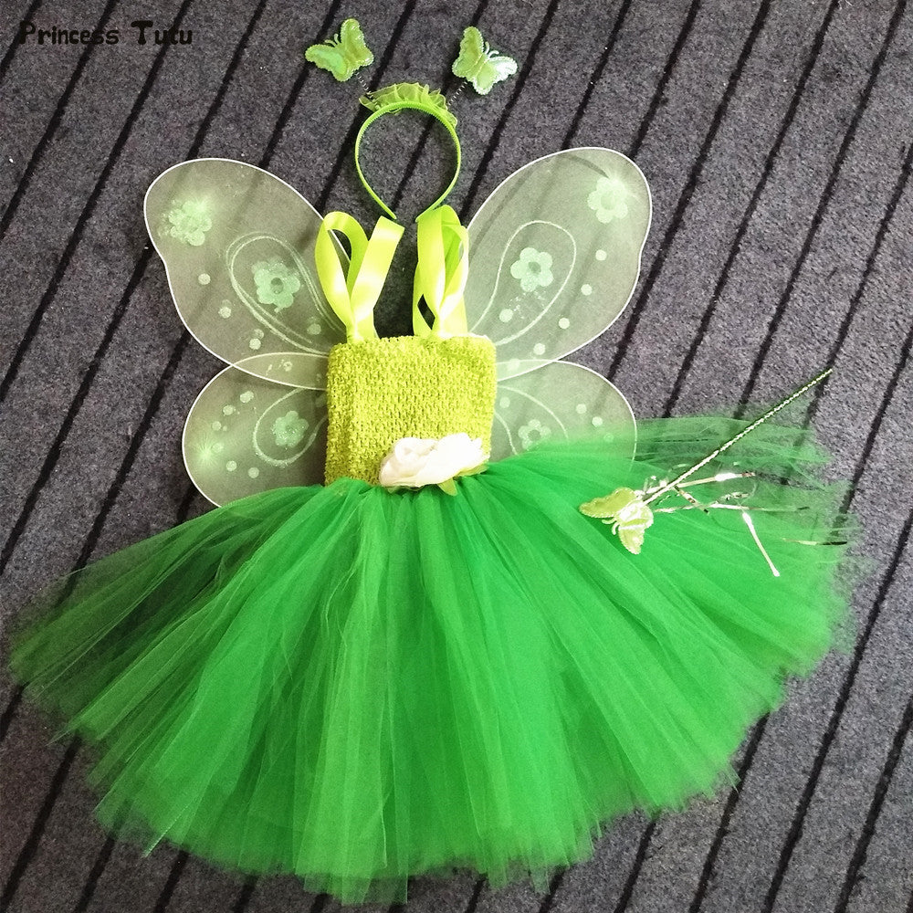 Cosplay Tinkerbell Magic Fairy Tutu Dress With Wings and Wand | meemu.com | Kids fashion, accessories