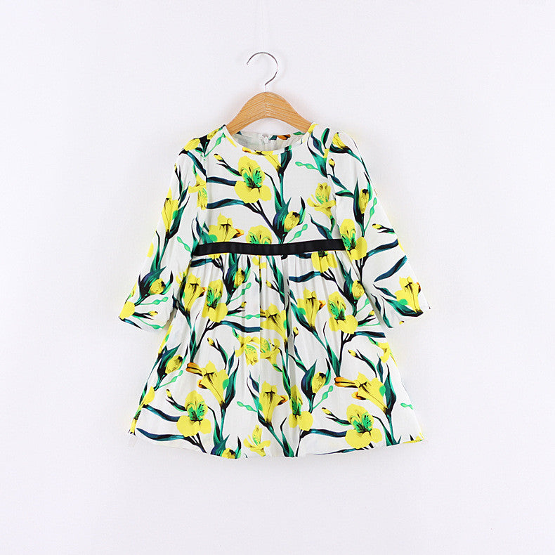 Spring Autumn Floral Yellows | meemu.com | Kids fashion, accessories