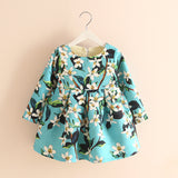 Flower Print Dress Blue