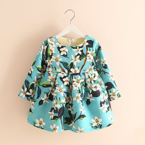 Flower Print Dress Blue | meemu.com | Kids fashion, accessories