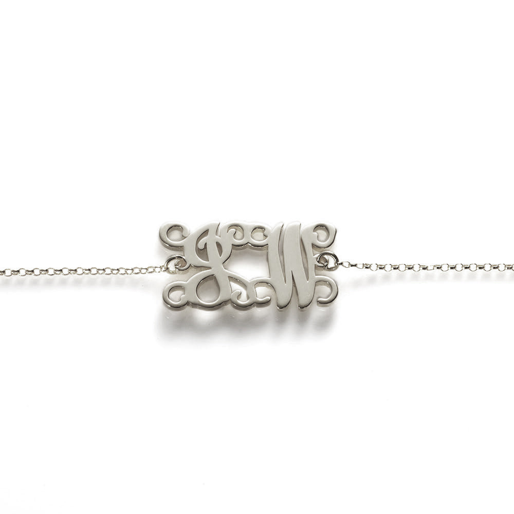 Monogram Bracelet/Anklet in Sterling Silver