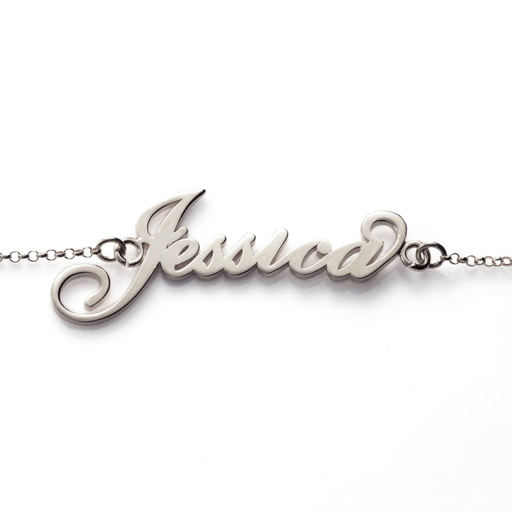Personalized Jessica Name Bracelet in Sterling Silver
