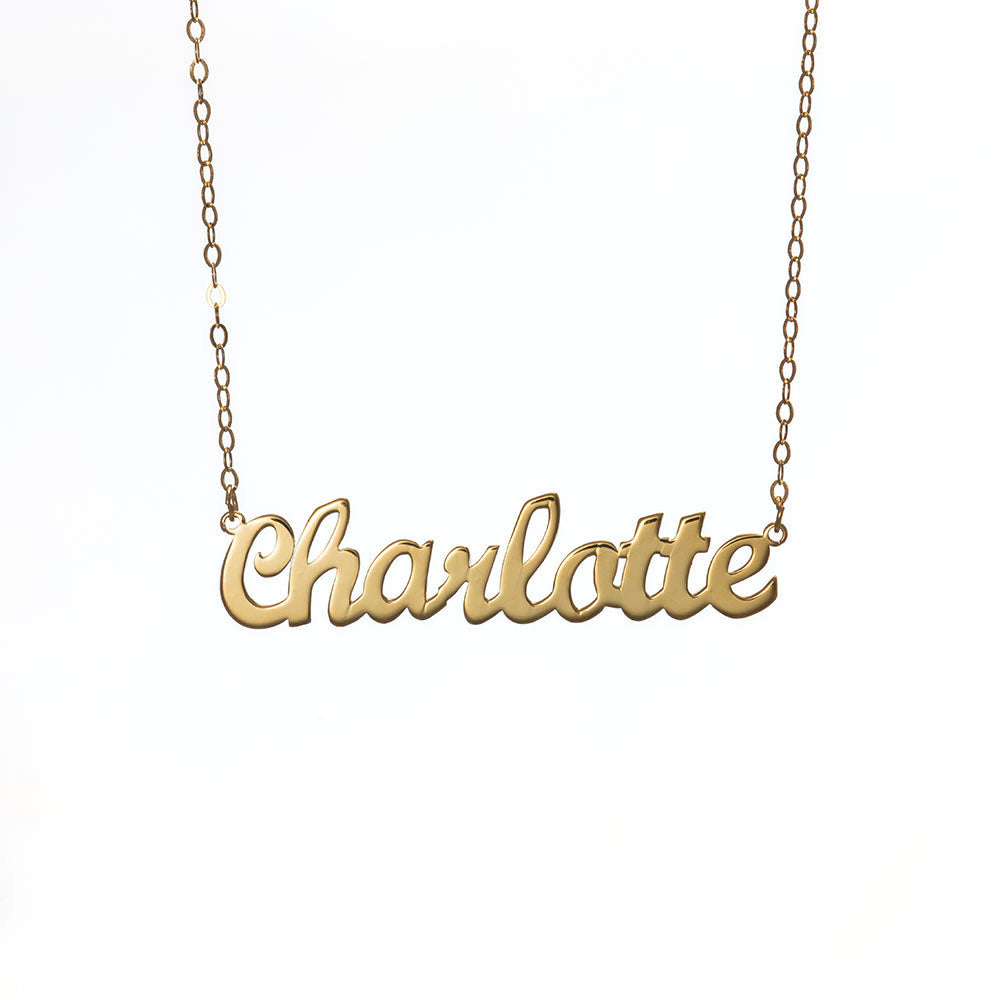 Personalized Charlotte Name Necklace