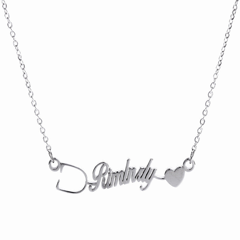 Personalized Nurse Pride Name Necklace in Sterling Silver