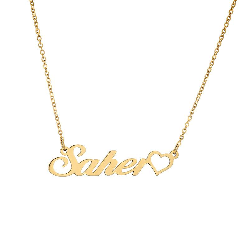 Personalized Side Heart Name Necklace