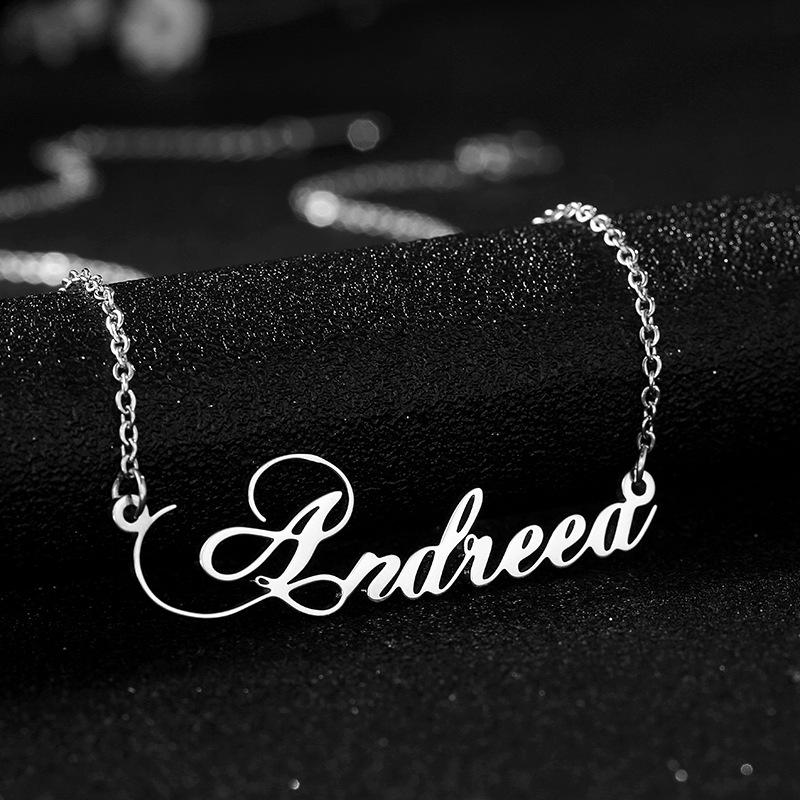 Personalized Dancing Andreea Name Necklace