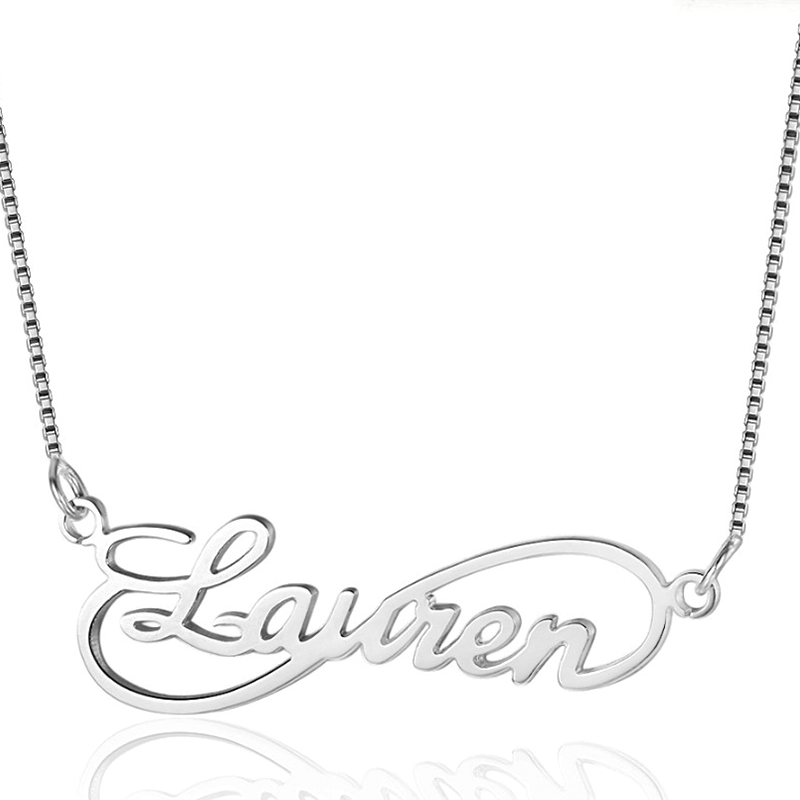 Personalized Infinity Name Necklace in Sterling Silver
