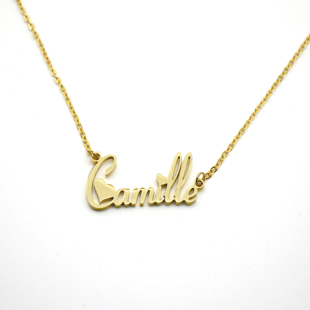 Personalized Two Heart Name Necklace