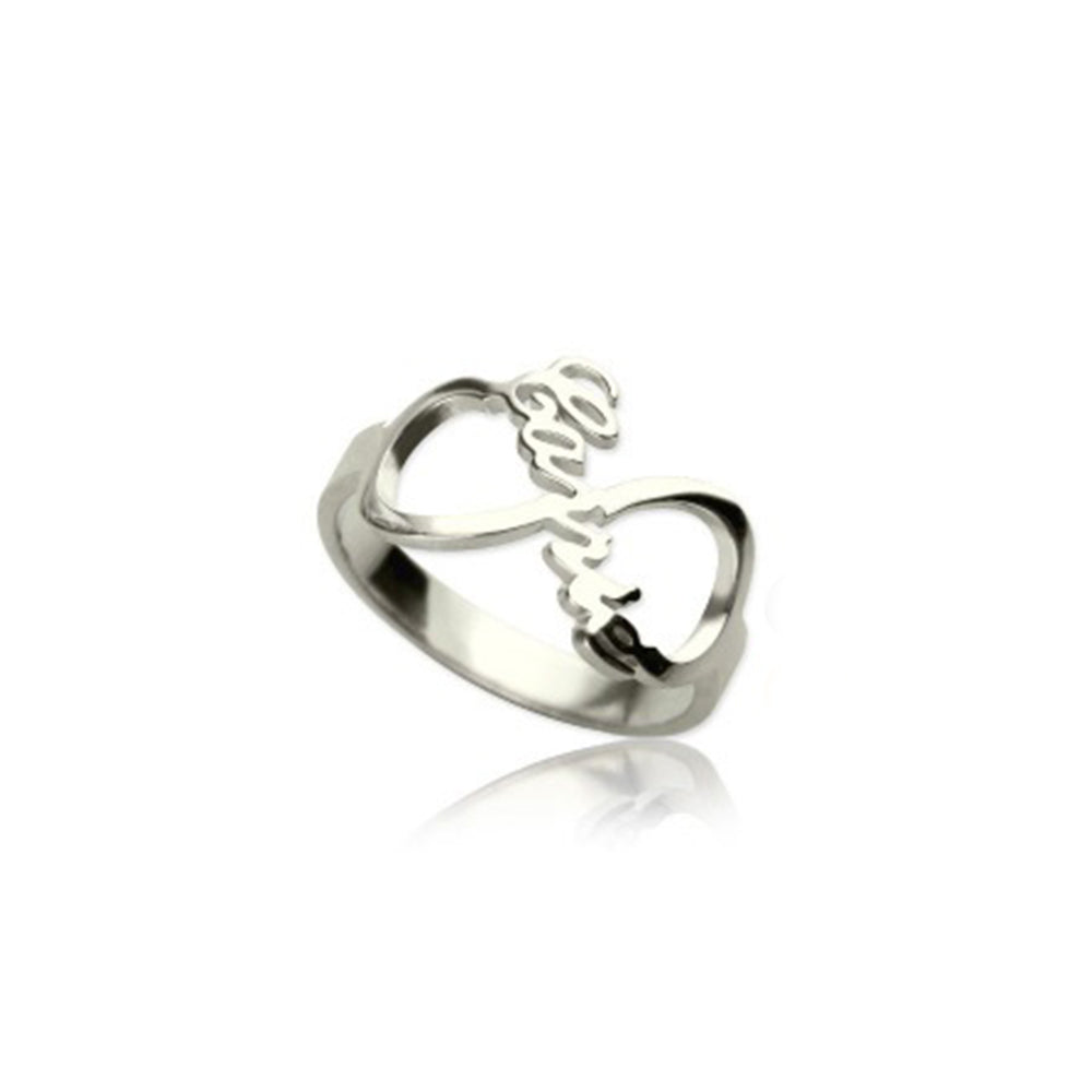 Personalized Infinity Ring in Sterling Silver