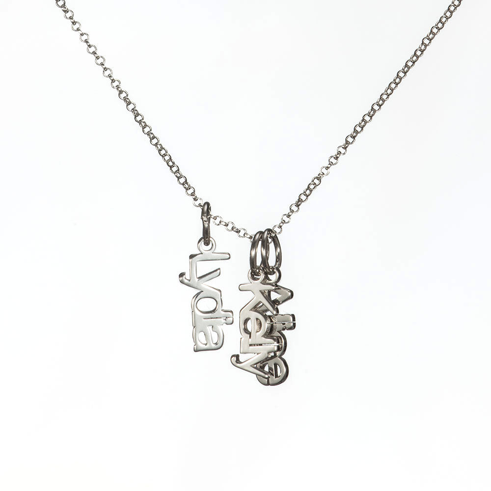 Personalized Three-Name Necklace in Sterling Silver
