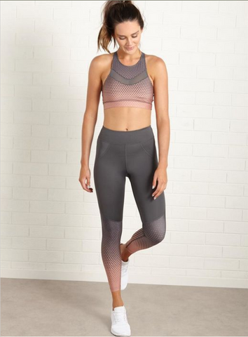 *LUXE PANEL 3/4 [Sports Bra/Top + Pants] Set #2