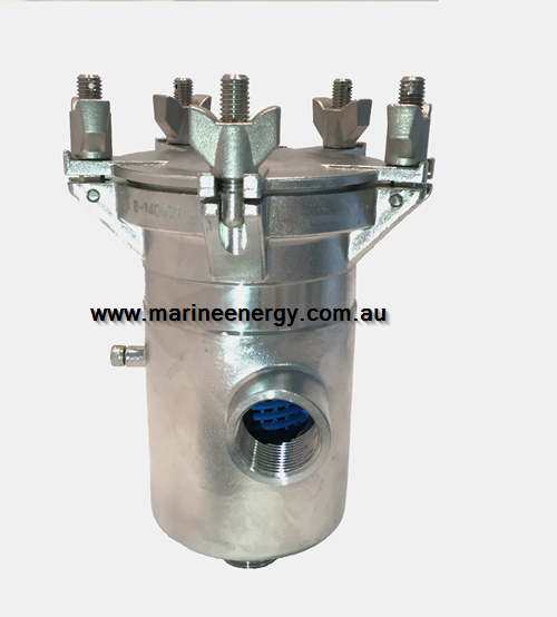 1″ Seawater Strainer (Bottom In Side Out) Stainless Steel 2205