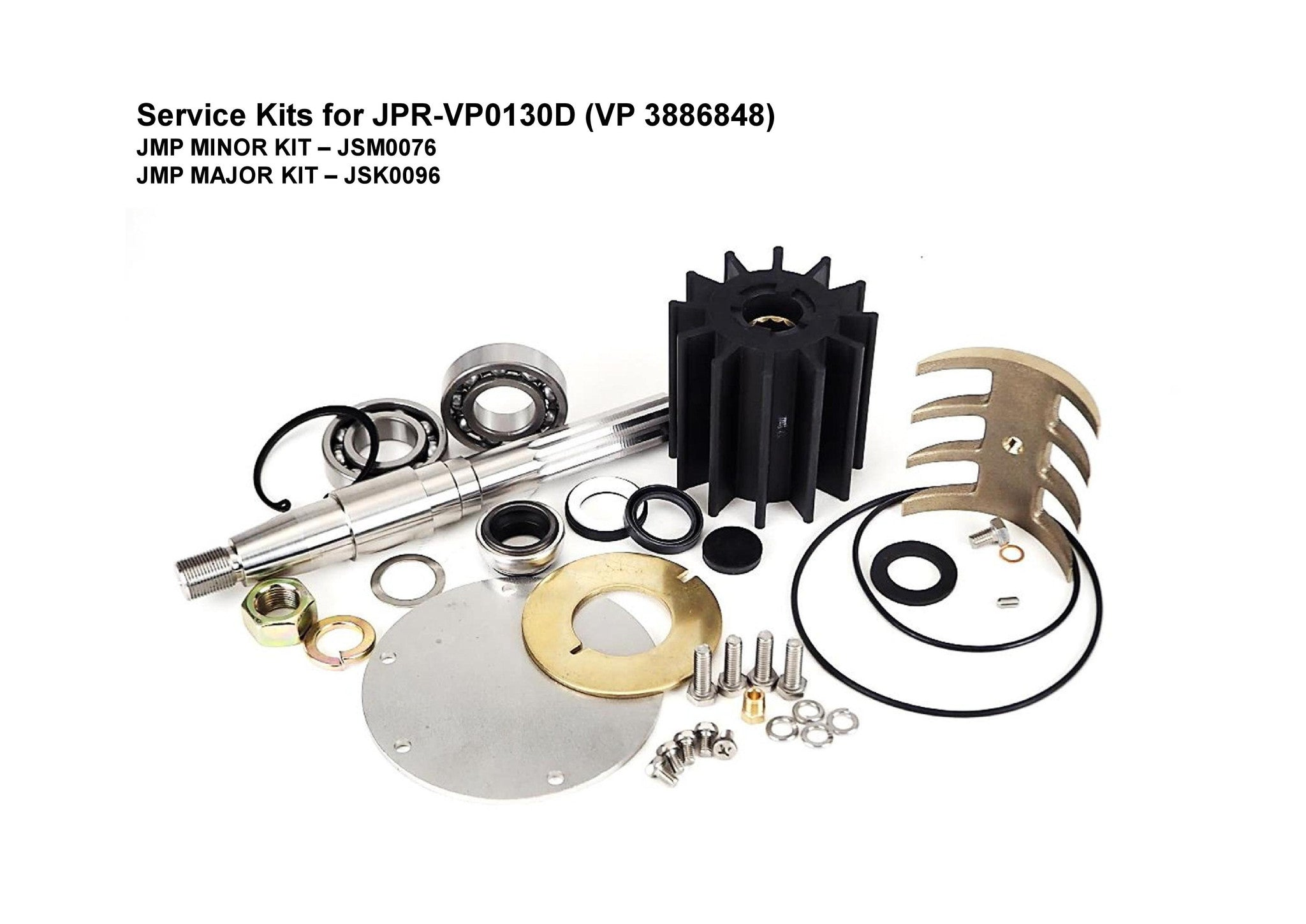 JMP-JSK0096 MAJOR KIT FOR JMP PUMP JPR-VP0130D-3886848 (Fits Volvo Penta Engines: D13B/C)