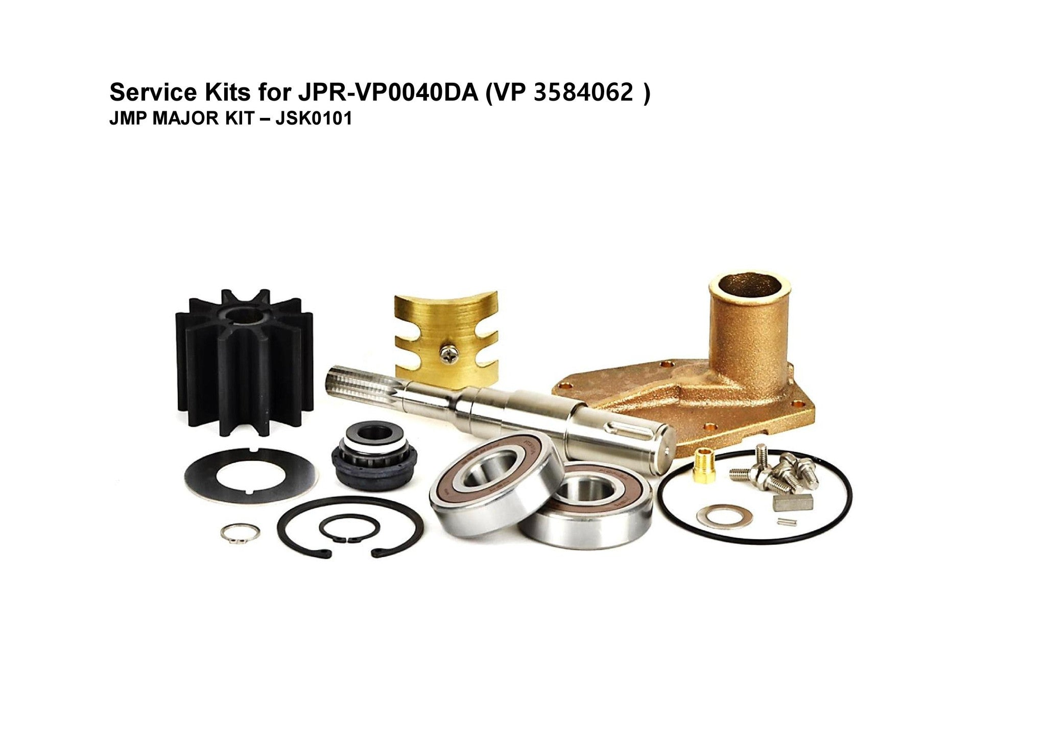JMP-JSK0101 MAJOR KIT FOR JMP PUMP JPR-VP0040DA-3584062 (Fits Volvo Penta Engines: D4)