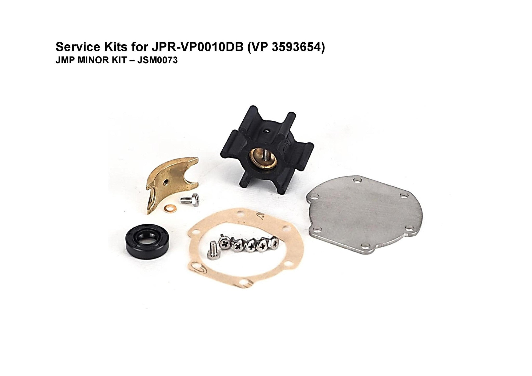 Minor Service Kit For Jsm0073 Volvo Penta Seawater Pump 3593655 Fi Marine Energy Systems