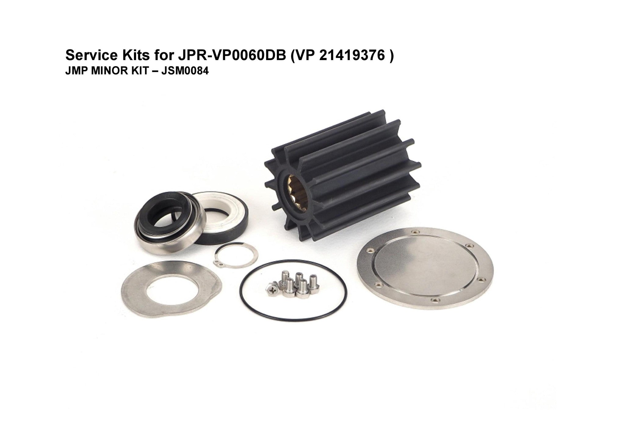 Service Kit for Volvo Penta D6 Engine Seawater Pump -21419376