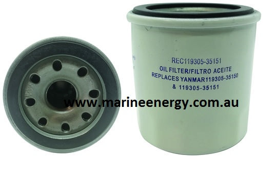 Yanmar Oil Filter 119305-35170 Replacement REC 119305-35151