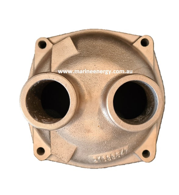Volvo Penta D6 Aftercooler End Cover 21653647 Replacement in Bronze