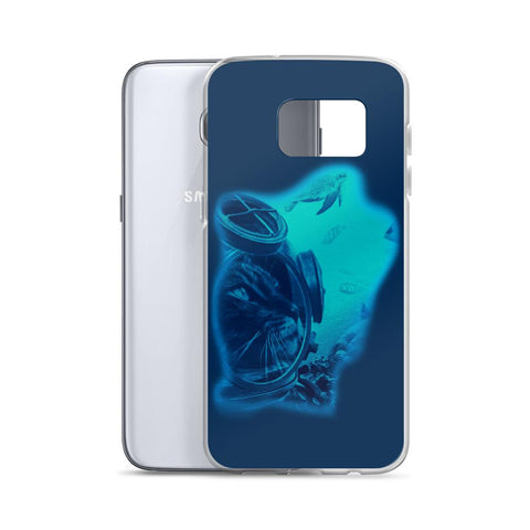 Aqua Cat | Samsung Case -  - Kempo24 giftidea you can buy in our online shop. We sell unisex man tshirts, women tee, teapots, trendy women tops and other homegoods, accessoires and fashion that is unique, funky, beautiful, unusual, cool or however you want to call it. Find the perfect gift for him or her or yourself.