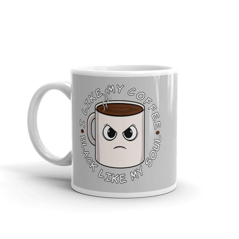 Black Soul Coffee | Mug -  - Kempo24 giftidea you can buy in our online shop. We sell unisex man tshirts, women tee, teapots, trendy women tops and other homegoods, accessoires and fashion that is unique, funky, beautiful, unusual, cool or however you want to call it. Find the perfect gift for him or her or yourself.