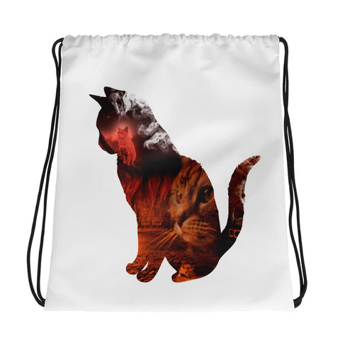 Cat's Night Out | Drawstring Bag