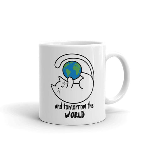 Cats conquered the world | Mug -  - Kempo24 giftidea you can buy in our online shop. We sell unisex man tshirts, women tee, teapots, trendy women tops and other homegoods, accessoires and fashion that is unique, funky, beautiful, unusual, cool or however you want to call it. Find the perfect gift for him or her or yourself.