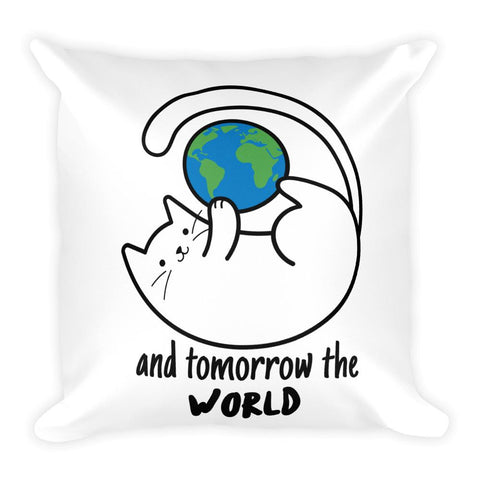 Cats Conquered The World | Square Pillow