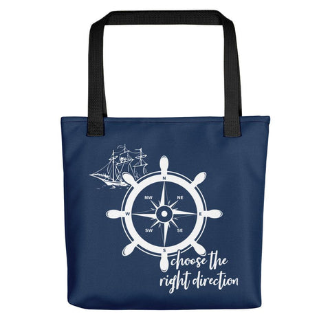 Choose The Right Direction | Reverse Version | Tote Bag