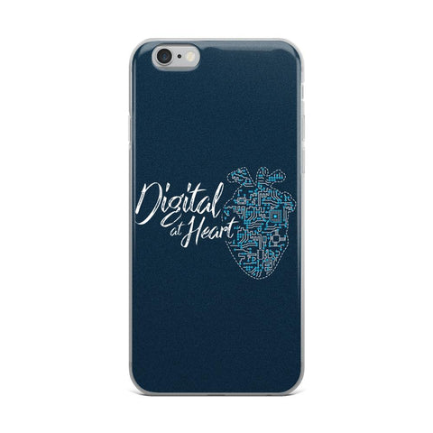 Digital at Heart | iPhone Case -  - Kempo24 giftidea you can buy in our online shop. We sell unisex man tshirts, women tee, teapots, trendy women tops and other homegoods, accessoires and fashion that is unique, funky, beautiful, unusual, cool or however you want to call it. Find the perfect gift for him or her or yourself.