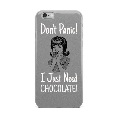 Don't Panic | Pop Art Series | iPhone Case -  - Kempo24 giftidea you can buy in our online shop. We sell unisex man tshirts, women tee, teapots, trendy women tops and other homegoods, accessoires and fashion that is unique, funky, beautiful, unusual, cool or however you want to call it. Find the perfect gift for him or her or yourself.