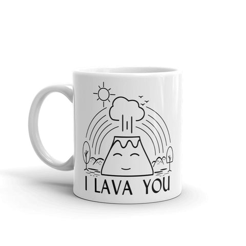 I Lava You | Mug -  - Kempo24 giftidea you can buy in our online shop. We sell unisex man tshirts, women tee, teapots, trendy women tops and other homegoods, accessoires and fashion that is unique, funky, beautiful, unusual, cool or however you want to call it. Find the perfect gift for him or her or yourself.