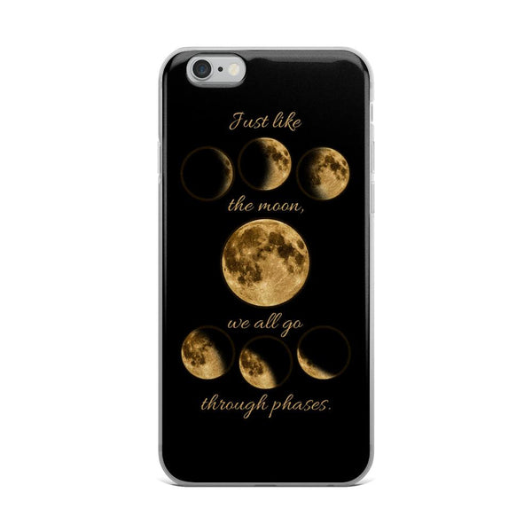 Just like the moon | iPhone Case -  - Kempo24 giftidea you can buy in our online shop. We sell unisex man tshirts, women tee, teapots, trendy women tops and other homegoods, accessoires and fashion that is unique, funky, beautiful, unusual, cool or however you want to call it. Find the perfect gift for him or her or yourself.