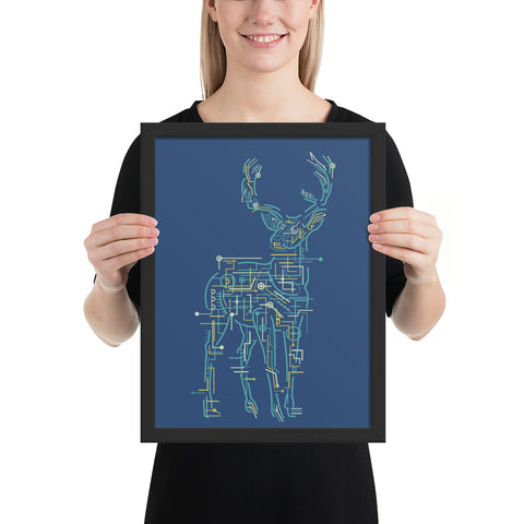 Electrical Deer | Framed Poster