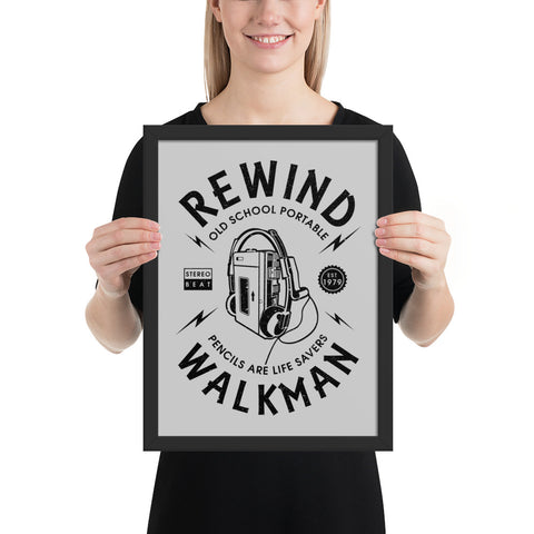 Rewind Walkman | Framed Poster