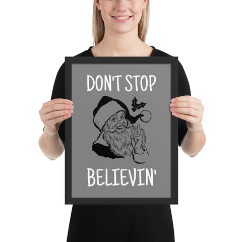 Don't Stop Believin' | Pop Art Series | Framed Poster