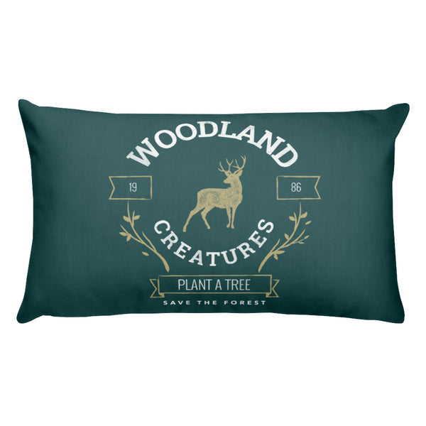 Woodland Creatures | Rectangle Pillow