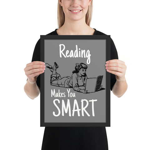 Reading makes you smart | Pop Art Series | Framed Poster