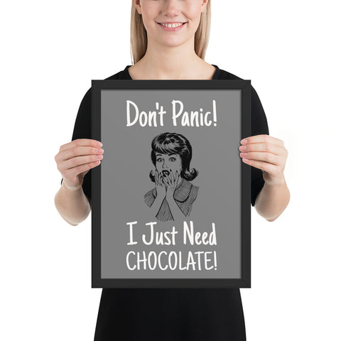 Don't Panic | Pop Art Series | Framed Poster