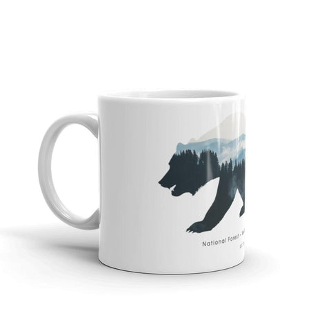 National Forest | Mug -  - Kempo24 giftidea you can buy in our online shop. We sell unisex man tshirts, women tee, teapots, trendy women tops and other homegoods, accessoires and fashion that is unique, funky, beautiful, unusual, cool or however you want to call it. Find the perfect gift for him or her or yourself.