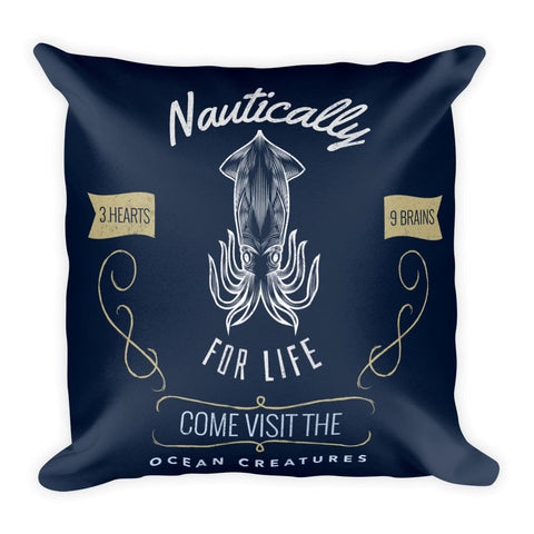 Octopus | Nautically Series | Square Pillow