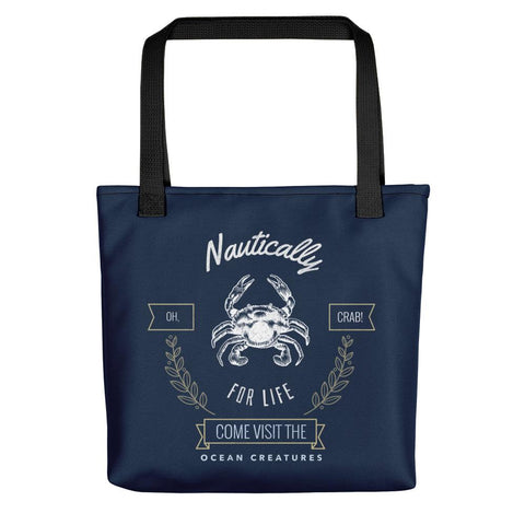 Oh Crab | Nautically Series | Tote bag -  - Kempo24 giftidea you can buy in our online shop. We sell unisex man tshirts, women tee, teapots, trendy women tops and other homegoods, accessoires and fashion that is unique, funky, beautiful, unusual, cool or however you want to call it. Find the perfect gift for him or her or yourself.