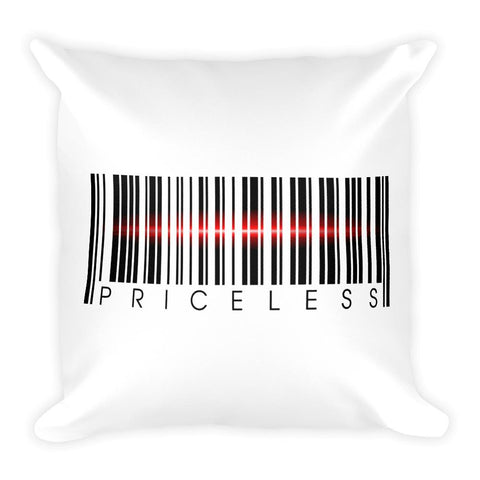 Priceless | Square Pillow -  - Kempo24 giftidea you can buy in our online shop. We sell unisex man tshirts, women tee, teapots, trendy women tops and other homegoods, accessoires and fashion that is unique, funky, beautiful, unusual, cool or however you want to call it. Find the perfect gift for him or her or yourself.