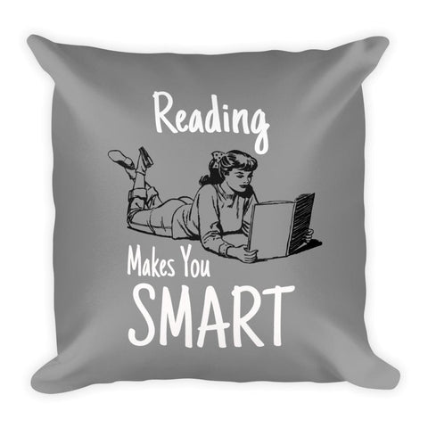 Reading Makes  You Smart | Pop Art Series | Square Pillow