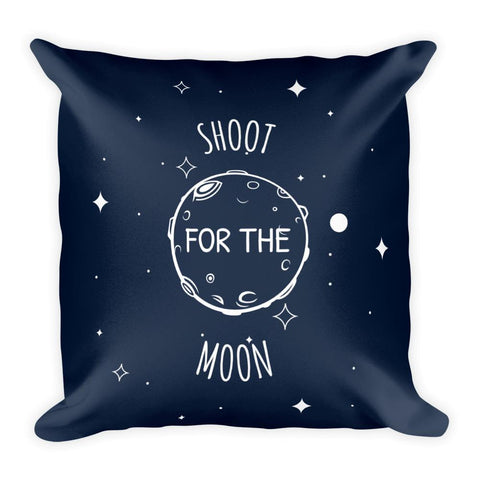 Shoot For The Moon | Cosmos Series | Square Pillow